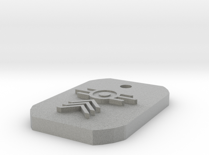 Sergeant Dogtag 3d printed