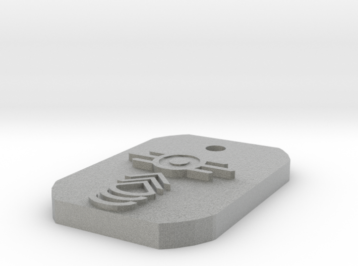 Master Sergeant Dogtag 3d printed