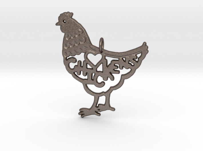 CHICKENS KEYCHAIN 3d printed