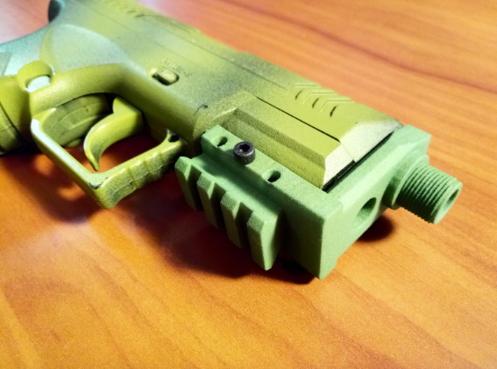 Combat Zone Enforcer Muzzle Adapter 3d printed