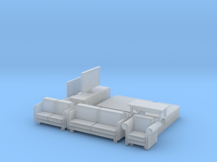 N Scale House Furniture Modern 3d printed
