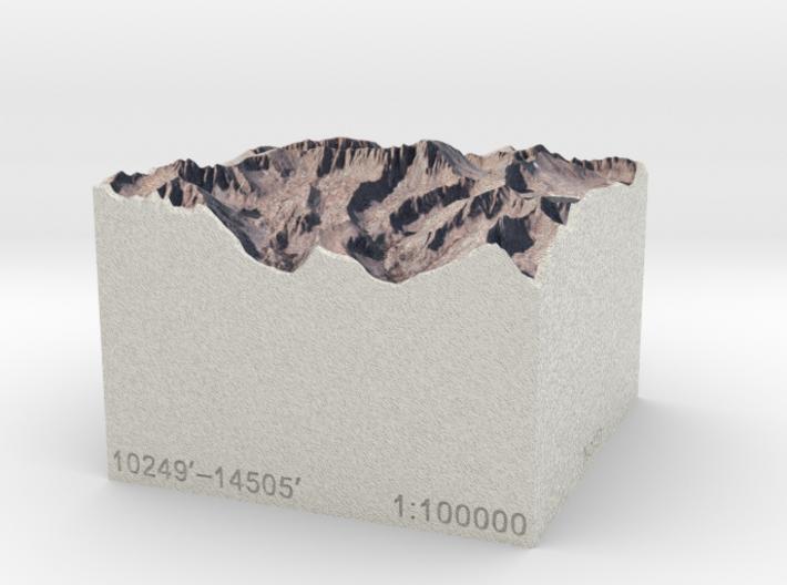 Mt. Whitney, California, 1:100000 Explorer 3d printed