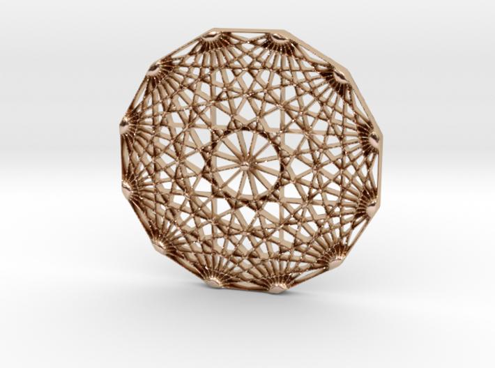 Abstract Geometric Polygon Pendant Charm 3d printed