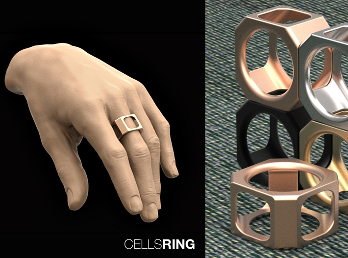 CELLS RING S7 3d printed
