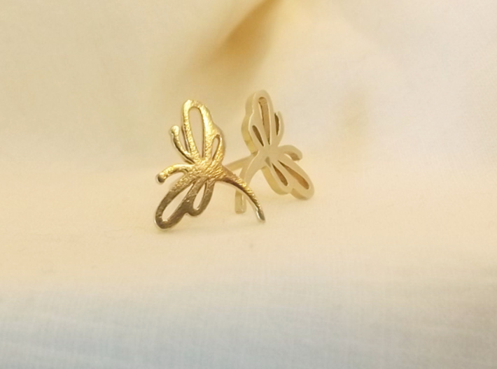 Buzzing Dragonfly™ Post Earrings 3d printed
