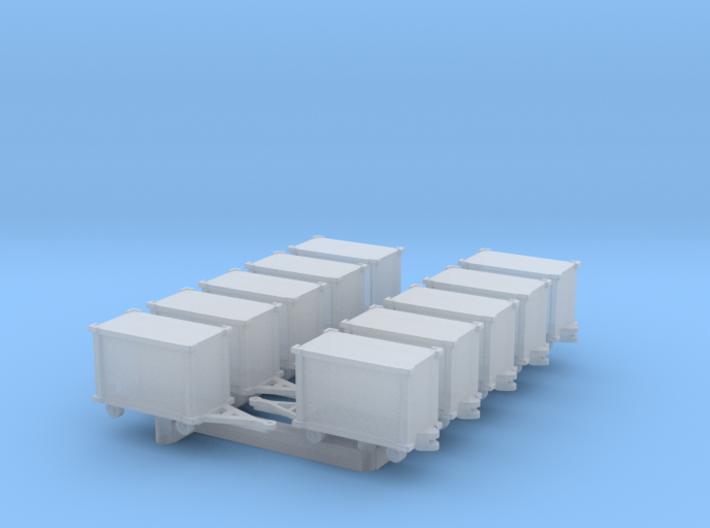 GSE 1:400 10x Baggage Cart Closed 3d printed