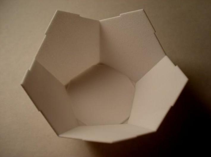 Half DodBox - Small 3d printed In White Strong and Flexible