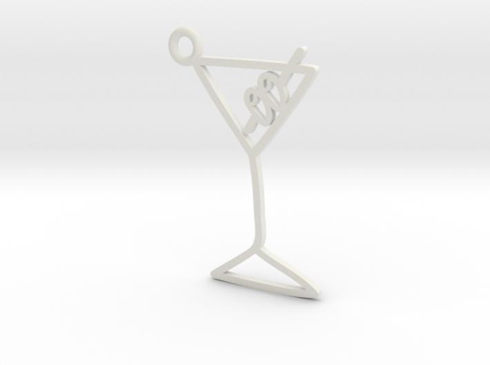 Martini Charm! 3d printed