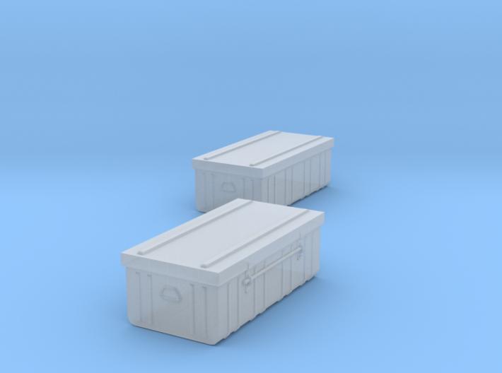 1/43 iron trunk / cantine métal X 2 3d printed