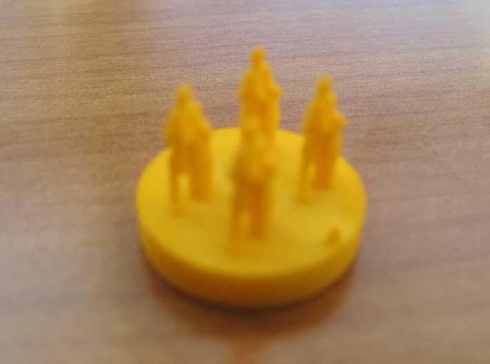 Catan Pieces - Orange City And Knights 3d printed Knight #1 token