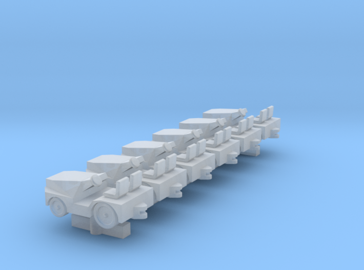 GSE 1:400 Baggage Tractor Tugtech M1A 6pc 3d printed