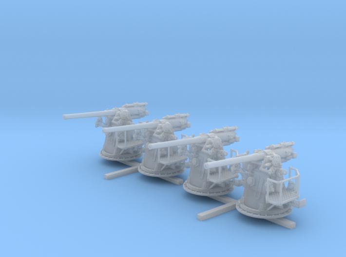 "1/128 RN 4""/45 (10.2 cm) QF MKV MKIII x4 3d printed 1/128 RN 4""/45 (10.2 cm) QF MKV MKIII x4"
