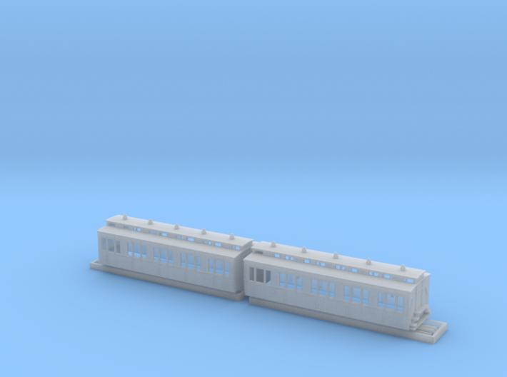 Doppelabteilwagen II. Fl Stadtbahn OBh-2 3d printed