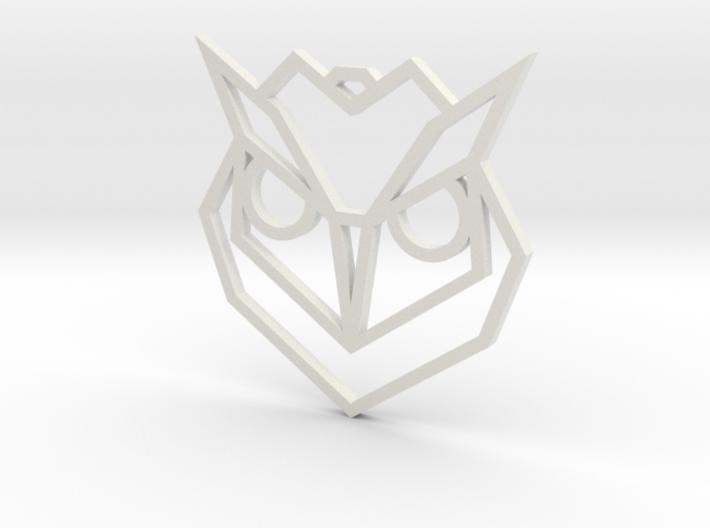 Geometric Owl Pendant 3d printed