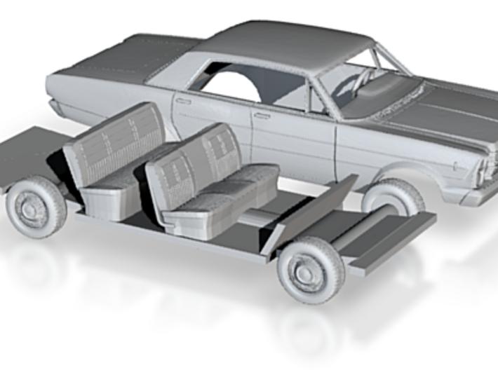 1/87 1966 Ford Galaxie 500 Custom Sedan Kit 3d printed