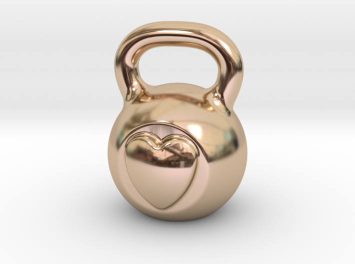 Kettlebell In My Heart 3d printed