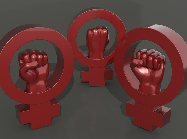 Women's rights symbol - BIG 3d printed