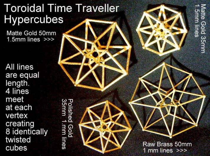 Toroidal Hypercube 35mm 1.5mm Time Traveller 3d printed These variations are all available www.Shapeways.com/shops/SacredGeometryWeb