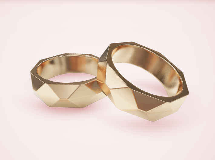 Geometric Ring 3d printed