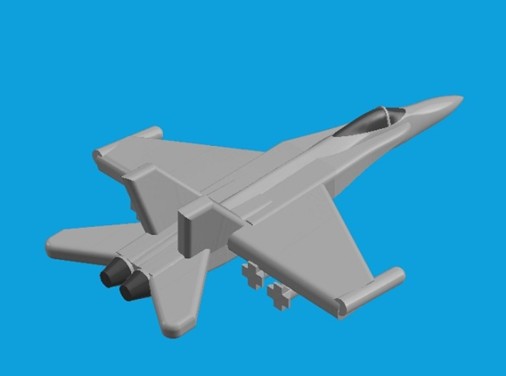 1/1800 Aircraft set for Nimitz class 3d printed F/A-18C Hornet. Computer software render.The actual model is not full color.