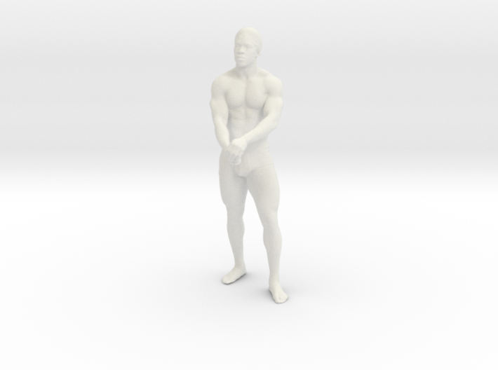 Strong male body 001 scale in 10cm 3d printed