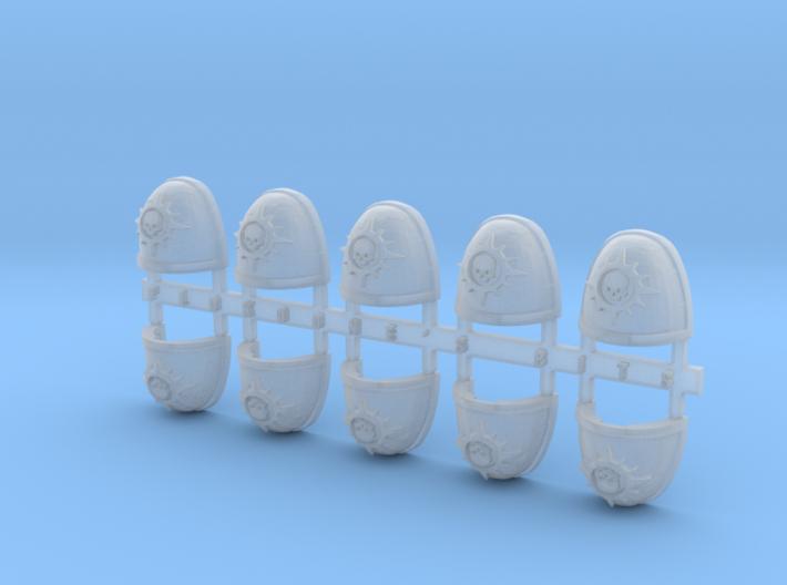 Skull & Star 3 V.7 Shoulder Pads x10 3d printed
