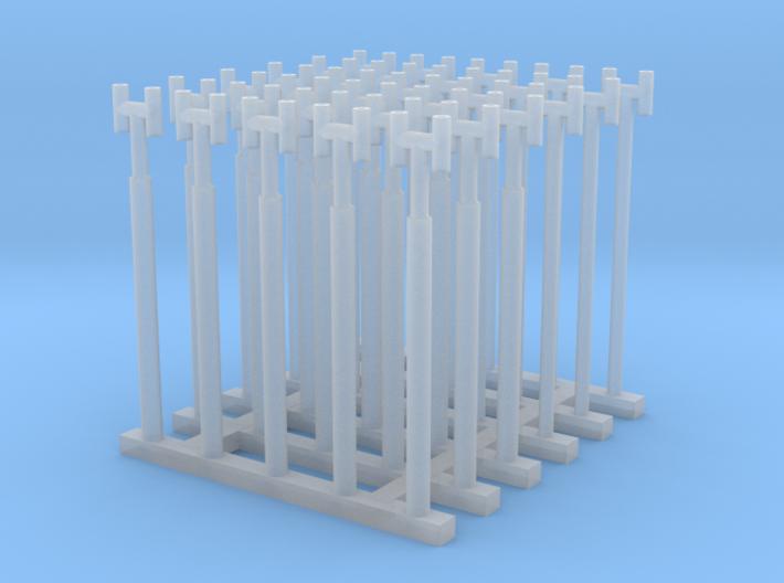 1/144 Fairmile Stove Pipes (H Shape) x30 3d printed 1/144 Fairmile Stove Pipes (H Shape) x30