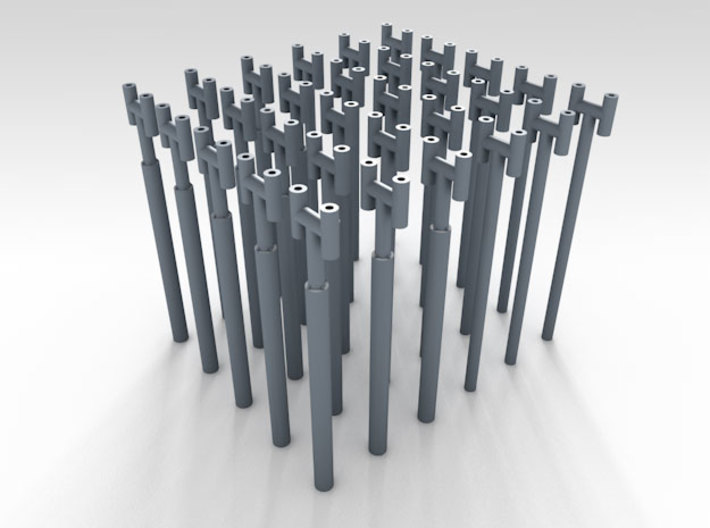 1/144 Fairmile Stove Pipes (H Shape) x30  3d printed 3d render showing product detail