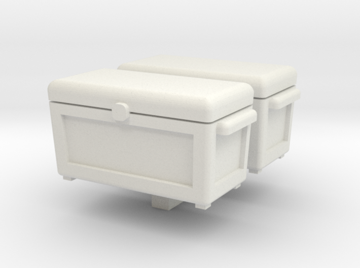 Ice Chest Cooler 2 pack 1-87 HO Scale 3d printed
