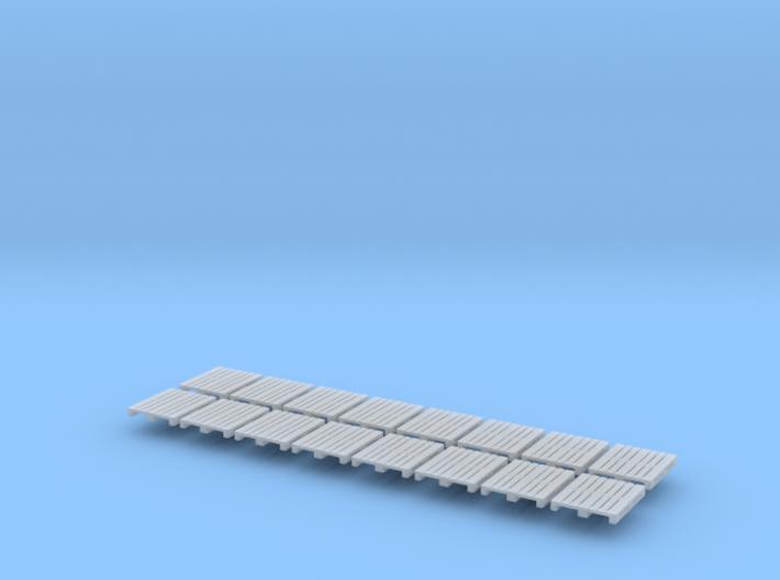 16x DIN-pallet (N 1:160) 3d printed