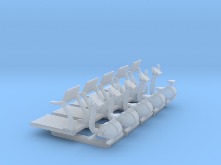 N Scale Fitness Equipment 10pc 3d printed