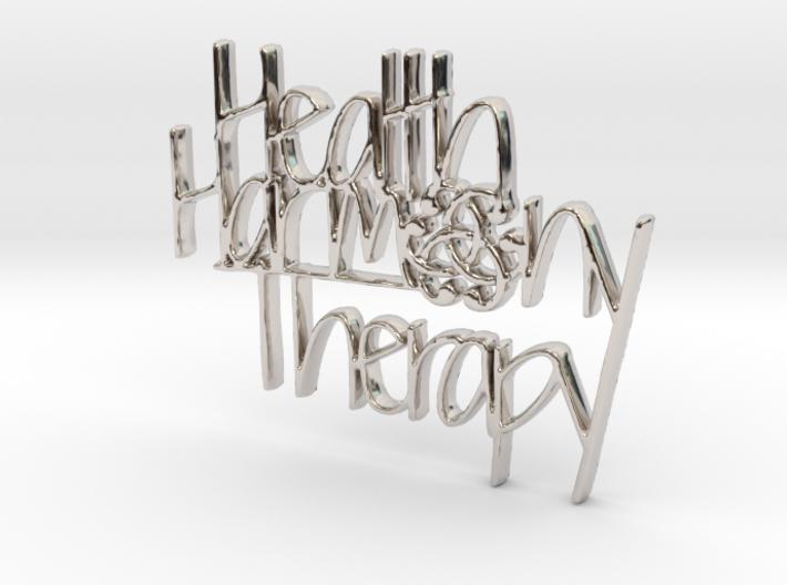Health Harmony Therapy Logo 3d printed