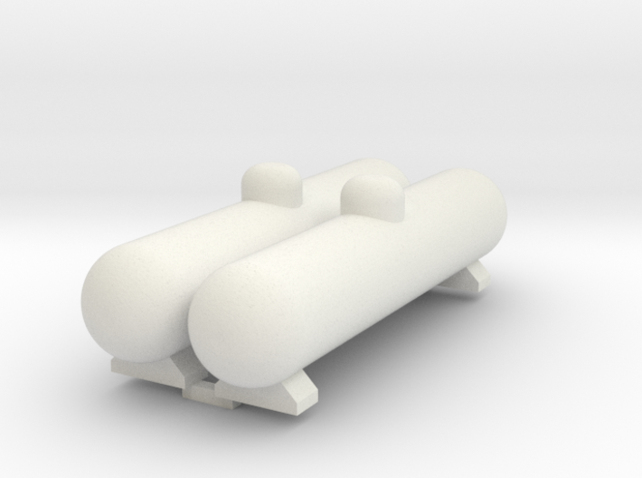 Propane Large Tank 2 Pack HO Scale 1-87 3d printed