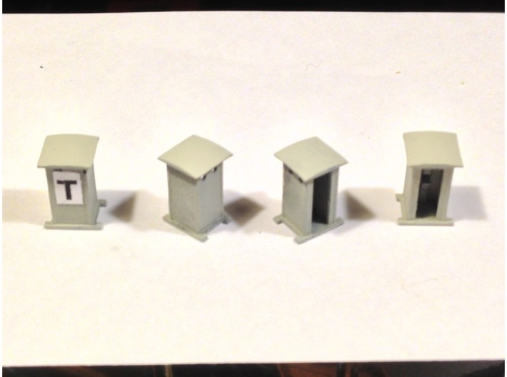 N Scale 1:160 Cabina di Telefonica - FS Railways 3d printed Italian Style Trackside Telephone Hut - 4 Units per Order