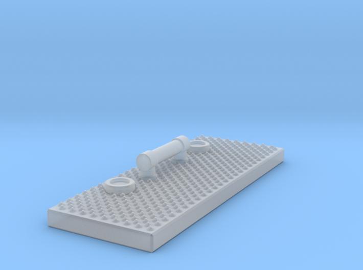 1/87 Coffin/Toolbox Lid 3d printed