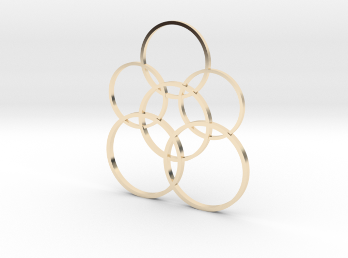 Stylish circulars pendant  3d printed