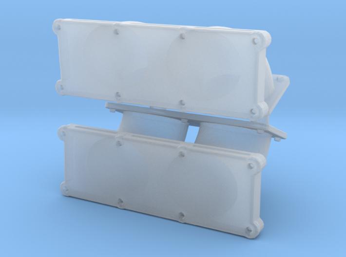 Dual Carb Intake 1/18 Custom part 3d printed