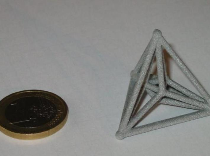 16-cell 3d printed Alumide 16-cell and 1 euro coin