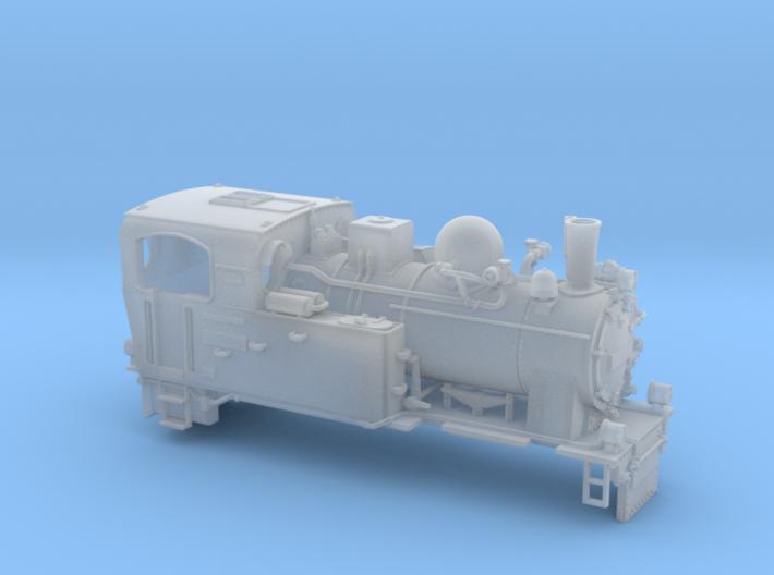 Schmalspurdampflok 996101 in Nm (1:160) 3d printed