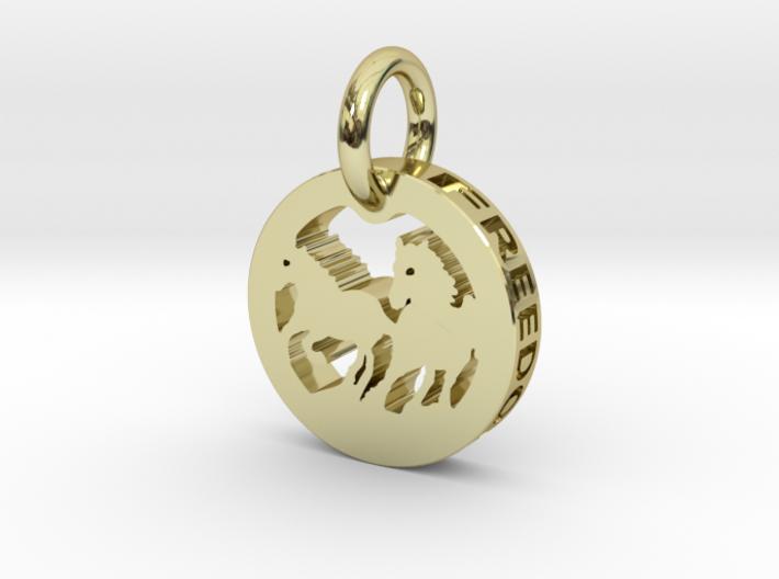 FREEDOM (precious metal pendant) 3d printed