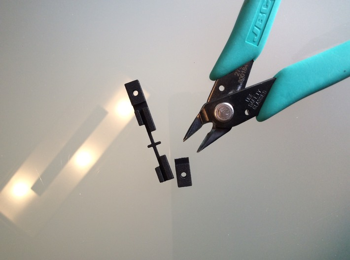 Brokenback HP41C 3d printed How to cut to repair one side only