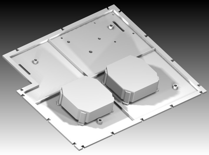 DeAgo Millennium Falcon Maintenance pits ver. B 3d printed Floor and pits together, floor available separately