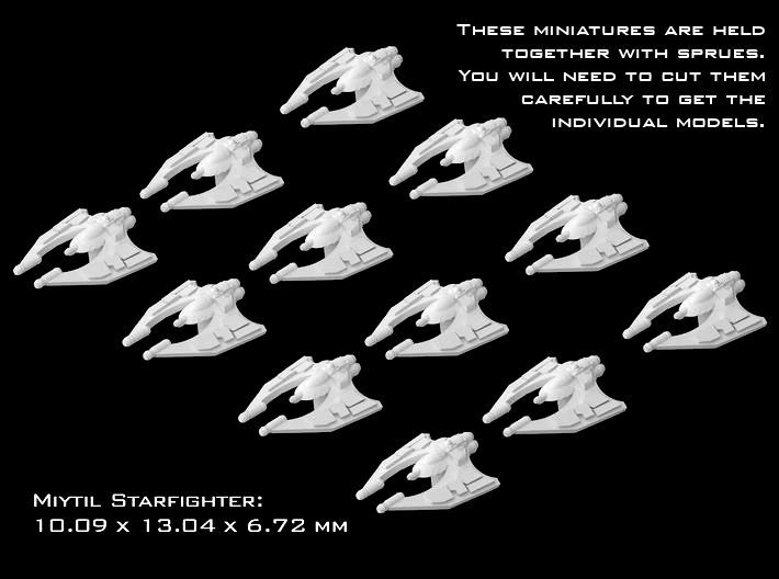 (Armada) 12x Miy'til starfighters 3d printed