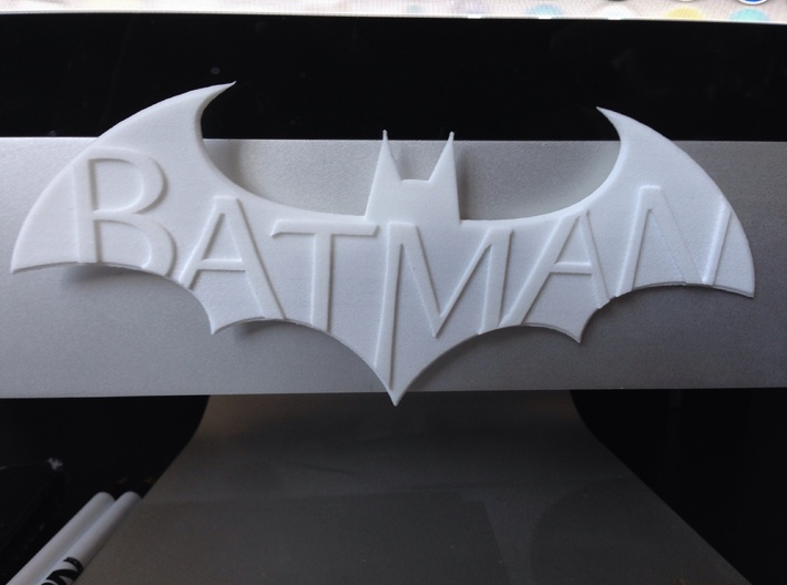 Batman Arkham Name Plate 3d printed