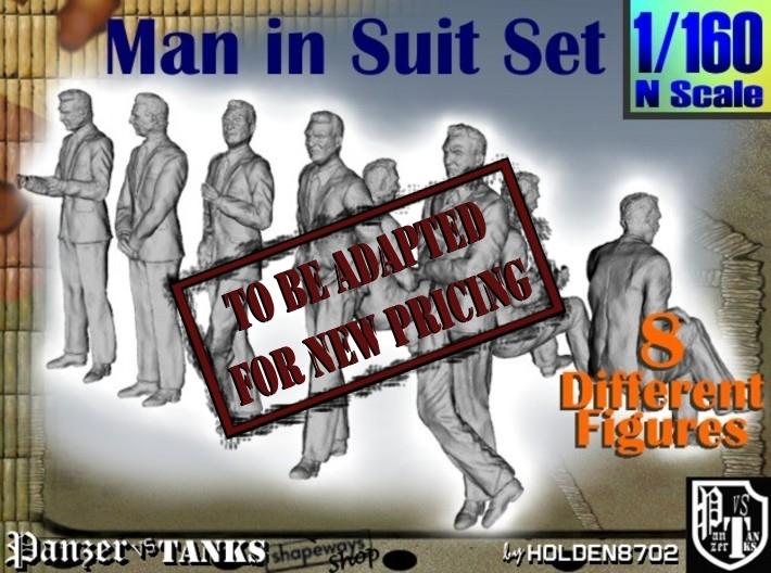 1-160 Man In Suit SET 3d printed