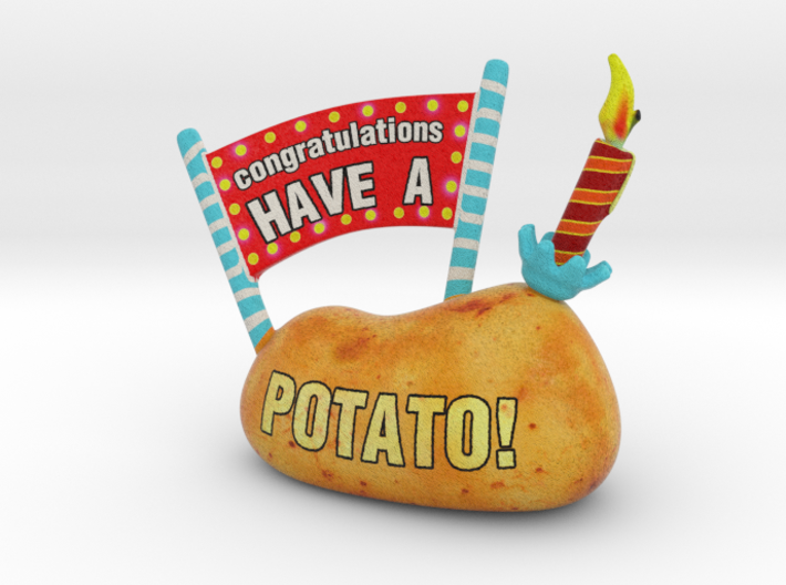 Congratulations - Have a Potato! 3d printed