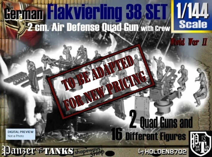 1-144 Flakvierling 38 Set 1 3d printed