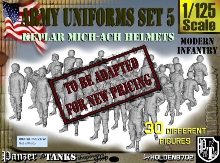1-125 Army Modern Uniforms Set5 3d printed