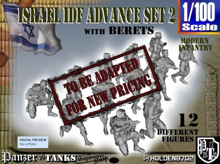 1-100 IDF BERET ADVANCE SET 3 3d printed