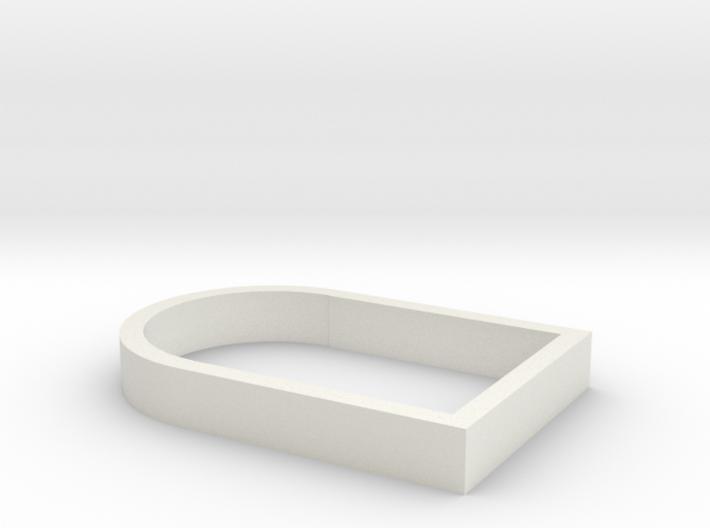 Parkhecke oval gekappt (Buchsbaum) 1:120 3d printed